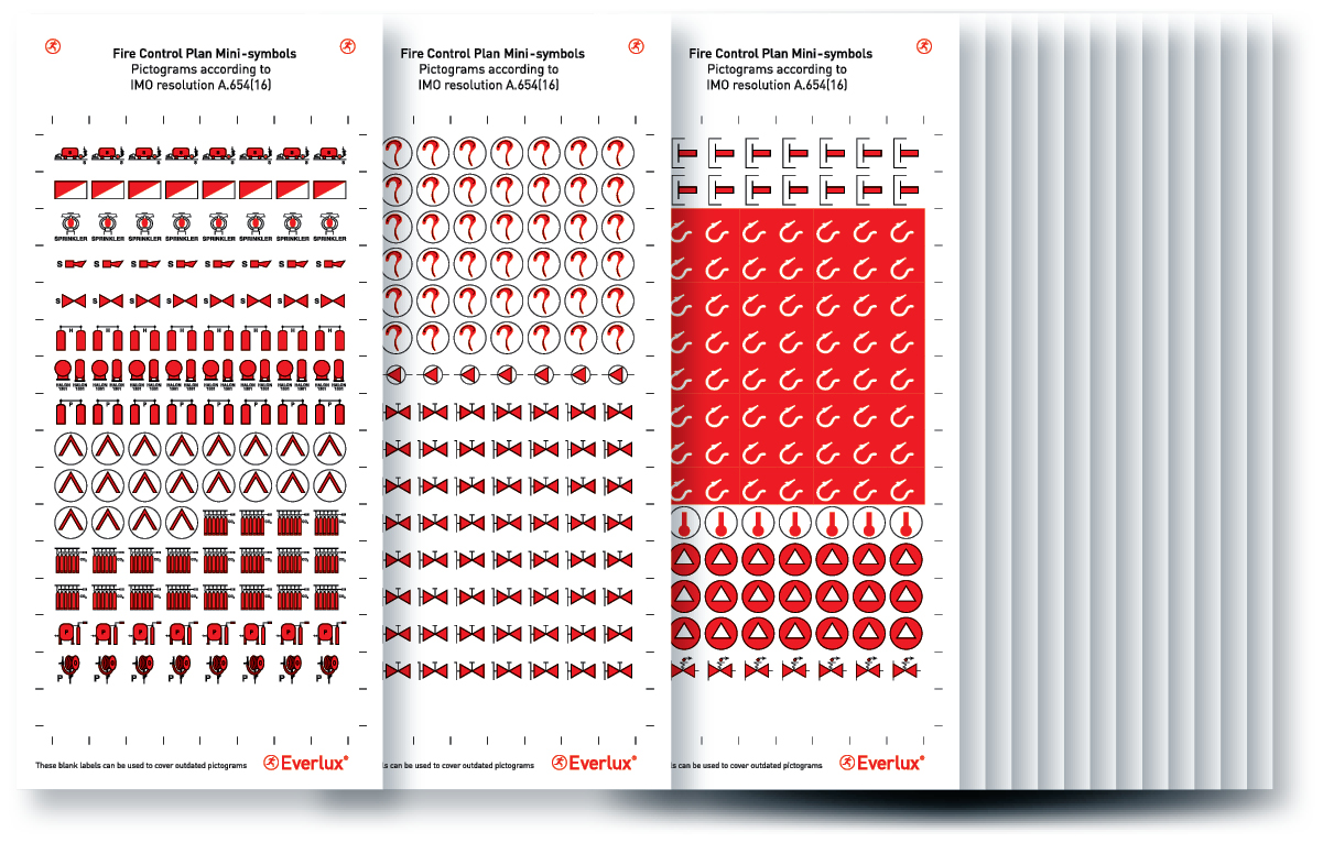Fire Control And Safety Plans Mini Symbols Product Range